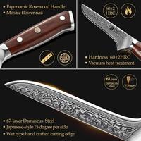 Нож для разделки рыбы из Дамасской стали, длина 29 см. #3
