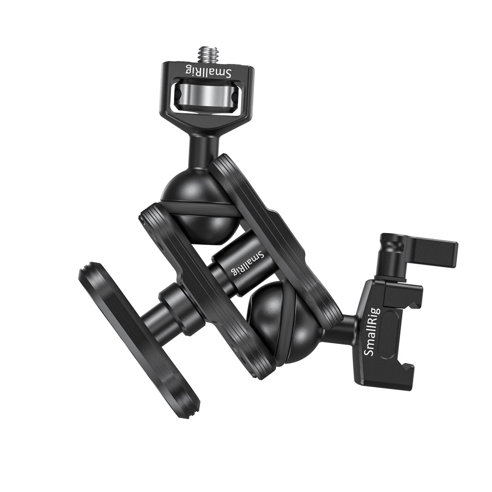 SmallRig friction articulating adjustable magic arm with Screw Ball head and NATO Clamp Ball head For Director Monitor Support enlarge