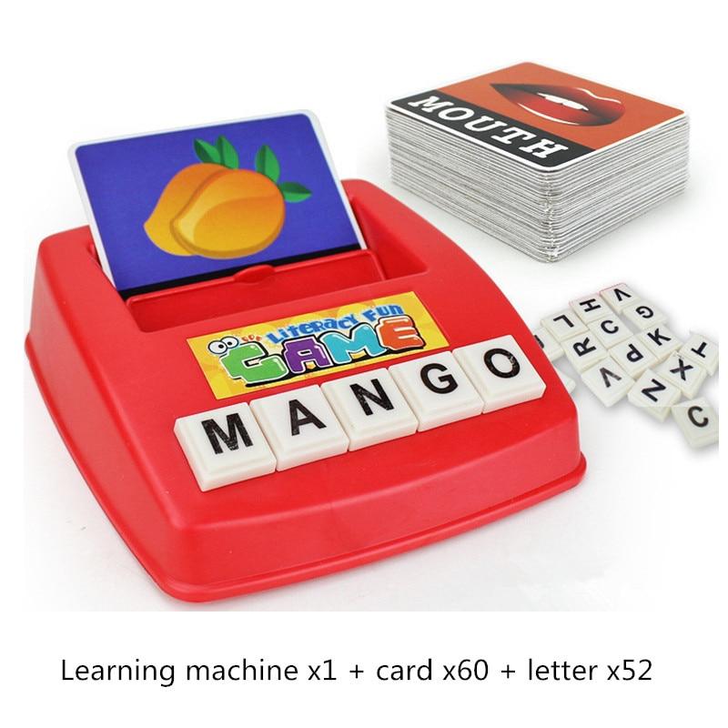 Juguetes educativos para niños, juguetes educativos para niños, máquina de cartas con alfabeto inglés, juguetes para niños, juego de rompecabezas, material didáctico creativo