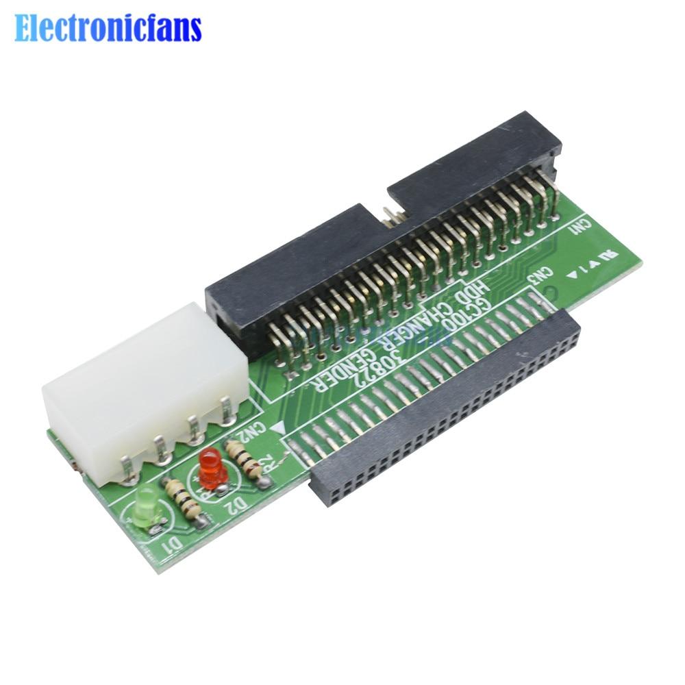 Adaptador convertidor Pata IDE a Sata ATA, de 44 Pines, 2,5