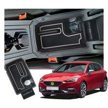 RUIYA Car Armrest Box Storage For Leon MK4 KL1/KL8 2020 2021 Central Control Container Auto Interior