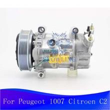 SD6V12 A/C compresseur ca 9684480480 SD6V12-1449 pour PEUGEOT Peugeot 1007 Citroen C2 2004-2007
