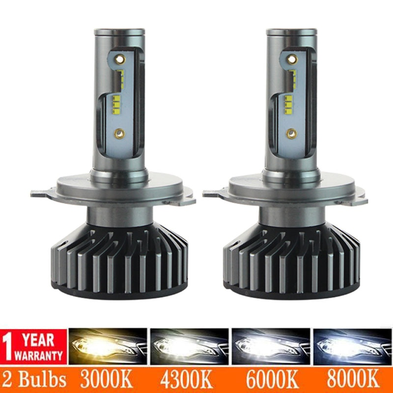 2pcs 3000K 6000K H1 H11 H8 H9 H7 Double Color LED Headlight Bulbs H7 LED Canbus HB3 HB4 LED Bulbs for Car 12V 24V Fog Lamps