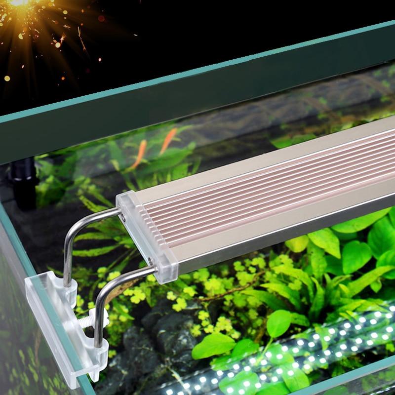 SUNSUN ADE Aquarium LED Lighting Lamp Aquatic Plant Fish Tank LED Light Ultra Slim 6500-7500k
