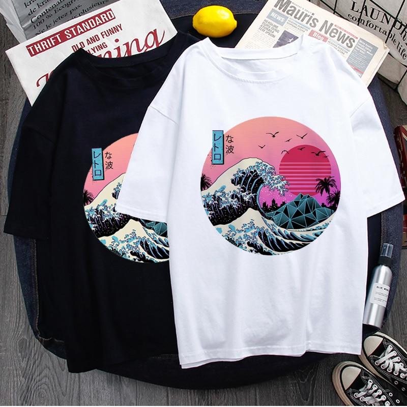 Vaporwave Aesthetic Cool T Shirt Men Fashion Streetwear Harajuku T-shirt Graphic Summer Casual Tshirt Hip Hop Top Tees Male