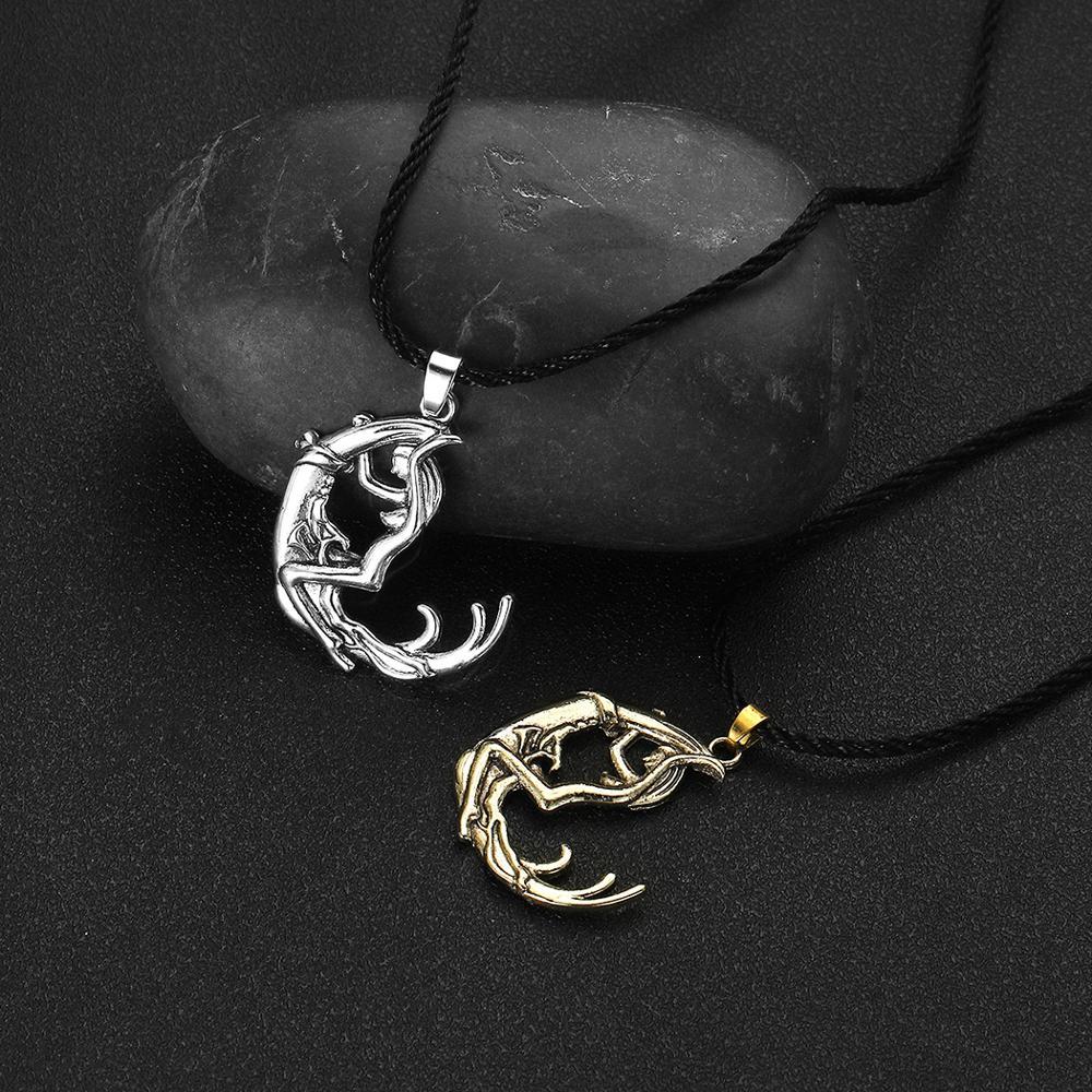 Qiamni deusa na lua amuleto mágico pagão talismã nórdico colar pingente eslavo viking rune gargantilha casal jóias presente