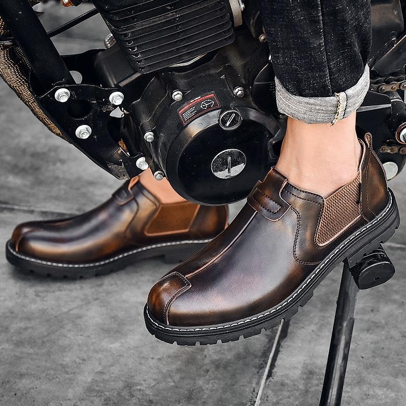 أحذية تشيلسي للرجال ، أحذية عصرية ، أحذية بريطانية غير رسمية ، مسطحة ، مقاومة للماء ، مريحة ، مجموعة خريف 2020 الجديدة