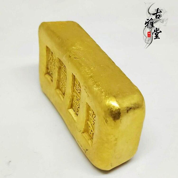 Lingote de oro antiguo de alta calidad (accesorios de Cine y Televisión)...