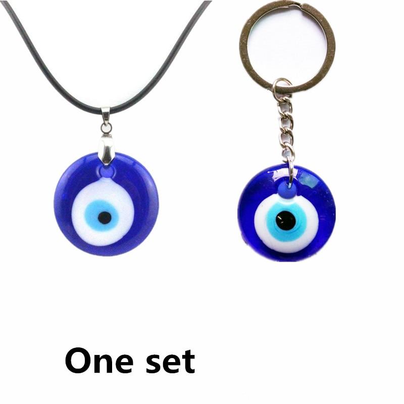 Collar de ojo malvado colgante de cristal de 3 cm, joyería turca, llavero de encanto, Kabbalah judío