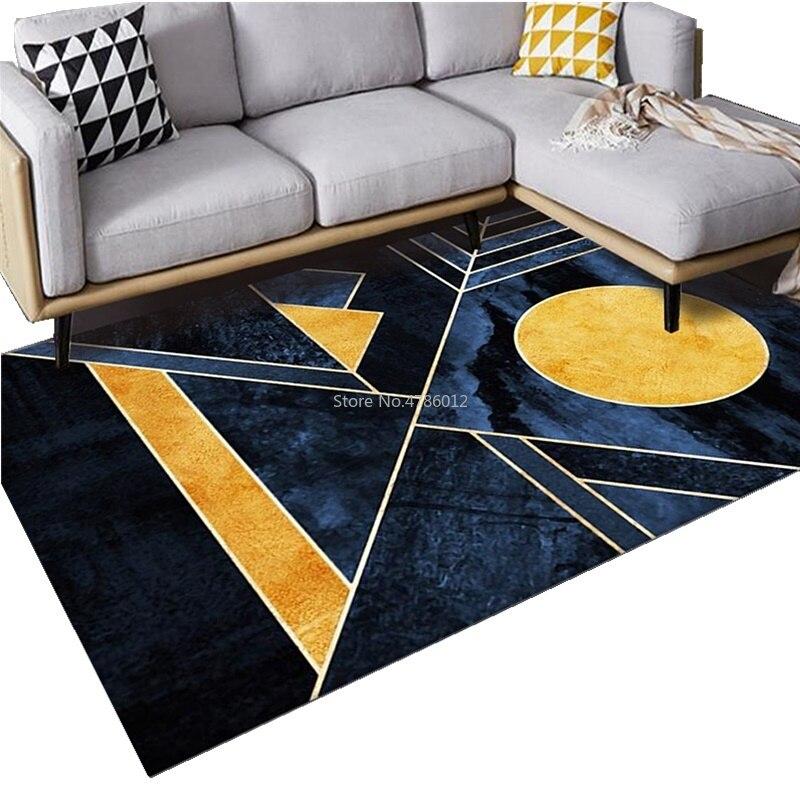 الذهبي الماس المخملية السجاد طاولة القهوة لغرفة المعيشة بطانية مجردة نمط المنزل غرفة نوم السرير السجاد