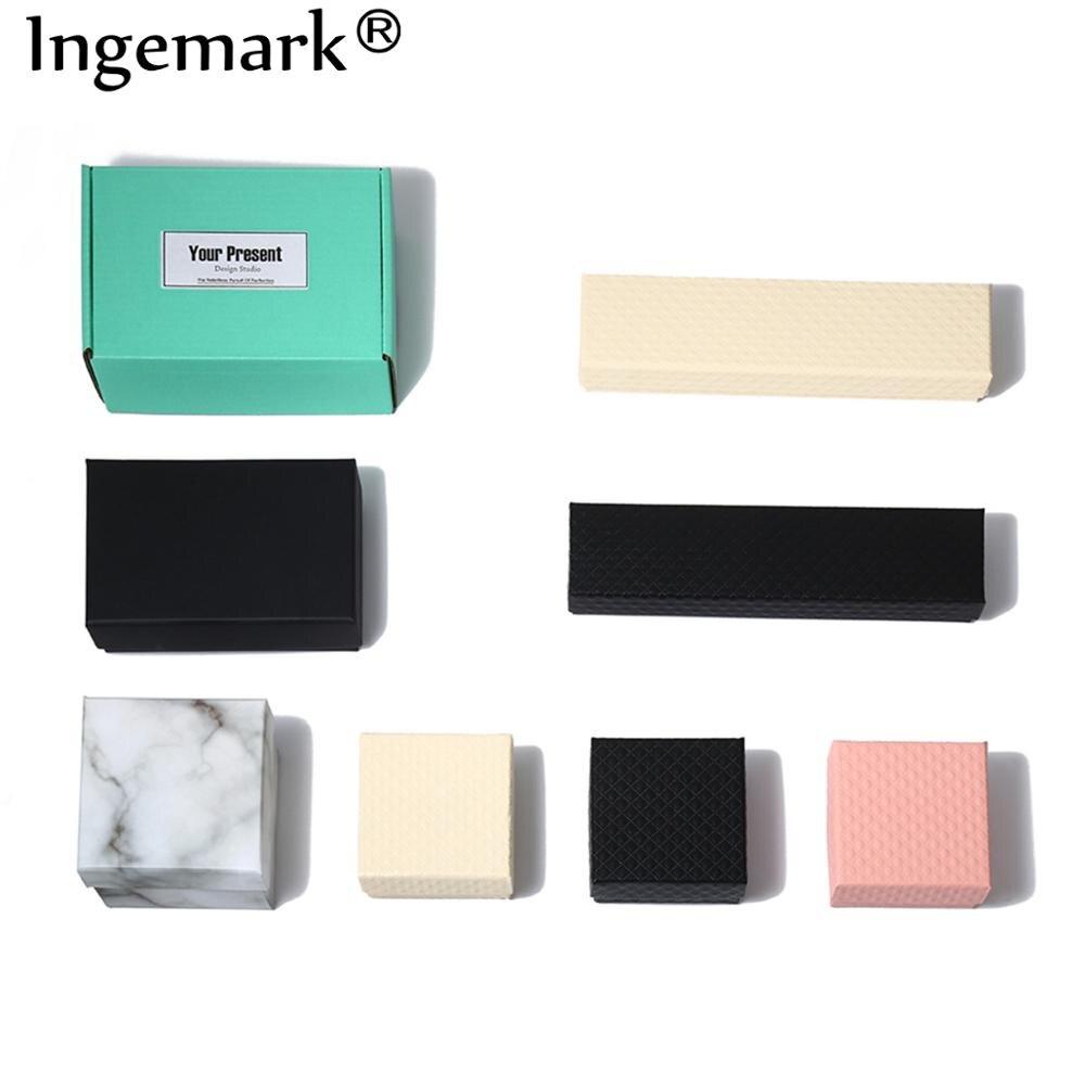 Ingemark bonito caixa de presente presente caixa de presente presente caixa de papelão artesanal para colar brinco pulseira tornozeleira caixa de jóias caixa de presente menina