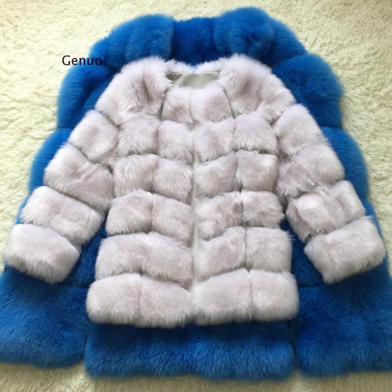 Abrigo largo de Piel sintética de lujo para Mujer, de invierno Abrigo...