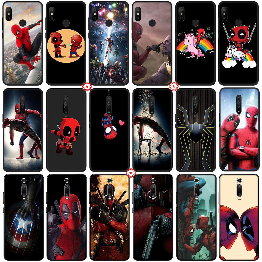 Y47 Marvel Deadpool Spiderman funda de silicona suave para Xiaomi Redmi Nota 9S 9 Pro Max 5 5A primer 6 7 8 Pro 8T teléfono caso