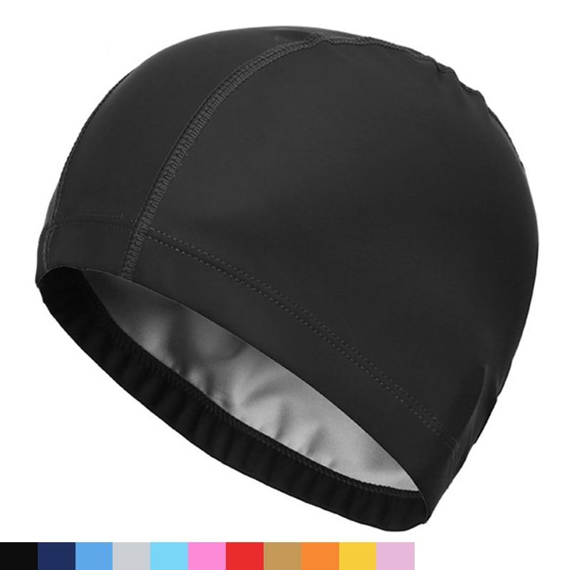 2021, эластичная Водонепроницаемая шапка из полиуретановой ткани для защиты ушей, с длинными волосами, спортивная шапка для бассейна, шапка д...