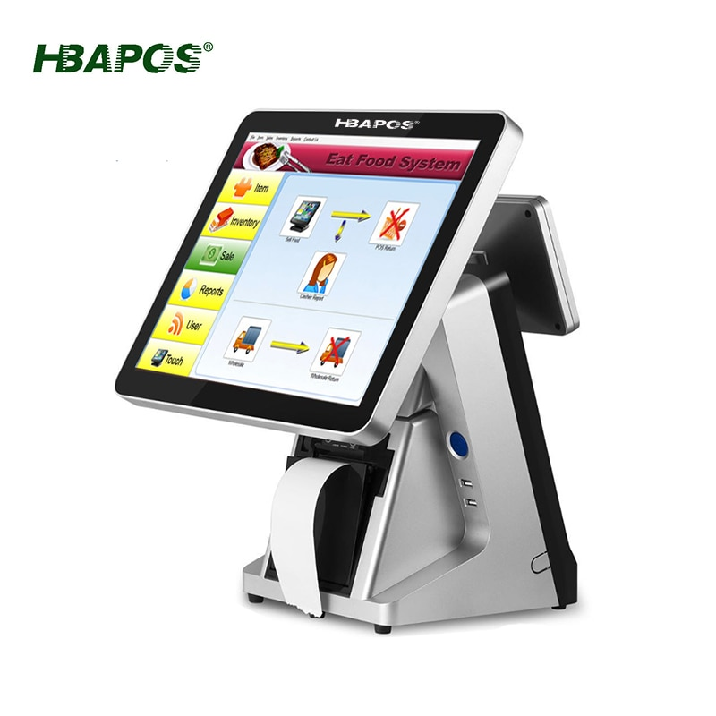 cheap pos system Q17 all in one terminal machine 15 inch touch screen with 58mm/80mm printer pos terminal cash machine for bar