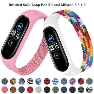 Bracelet for Xiaomi Mi band 5 6 Strap Nylon Braided Solo Loop belt Mi band 3 Miband 5 Wristband for xiaomi Mi band 6 5 watchband