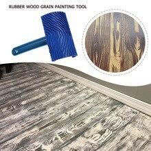 Синий инструмент для обработки древесины с резиновой ручкой, маскирующий узор для печати для покраски стен, DIY, декоративный ролик для краск...