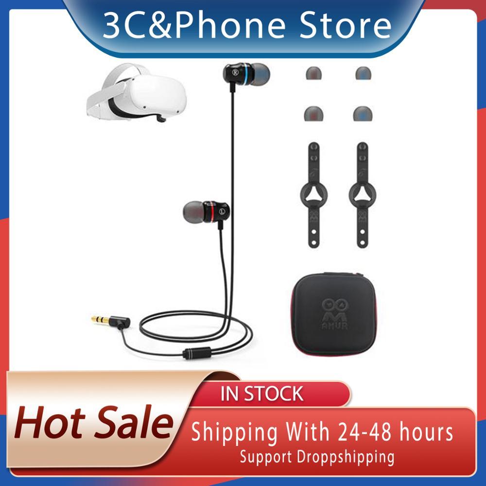 VR Headset Ear-in Integrated Earphone for Oculus Quest 2 In-ear all-in-one headset 20Hz-20KHz Headph