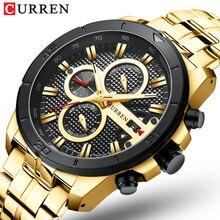 CURREN 8337 Männer Uhr Gold Luxus Marke Edelstahl Armbanduhr Chronograph Army Military Quarz Uhren Relogio Masculino