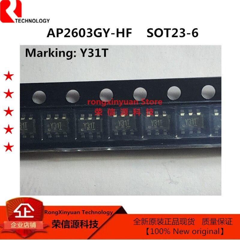AP2603GY-HF marcação y31z sot-26 ap2603gy ap2603 2603 p-canal realce modo de potência mosfet-20 v, 65mΩ,-5a 100% novo original