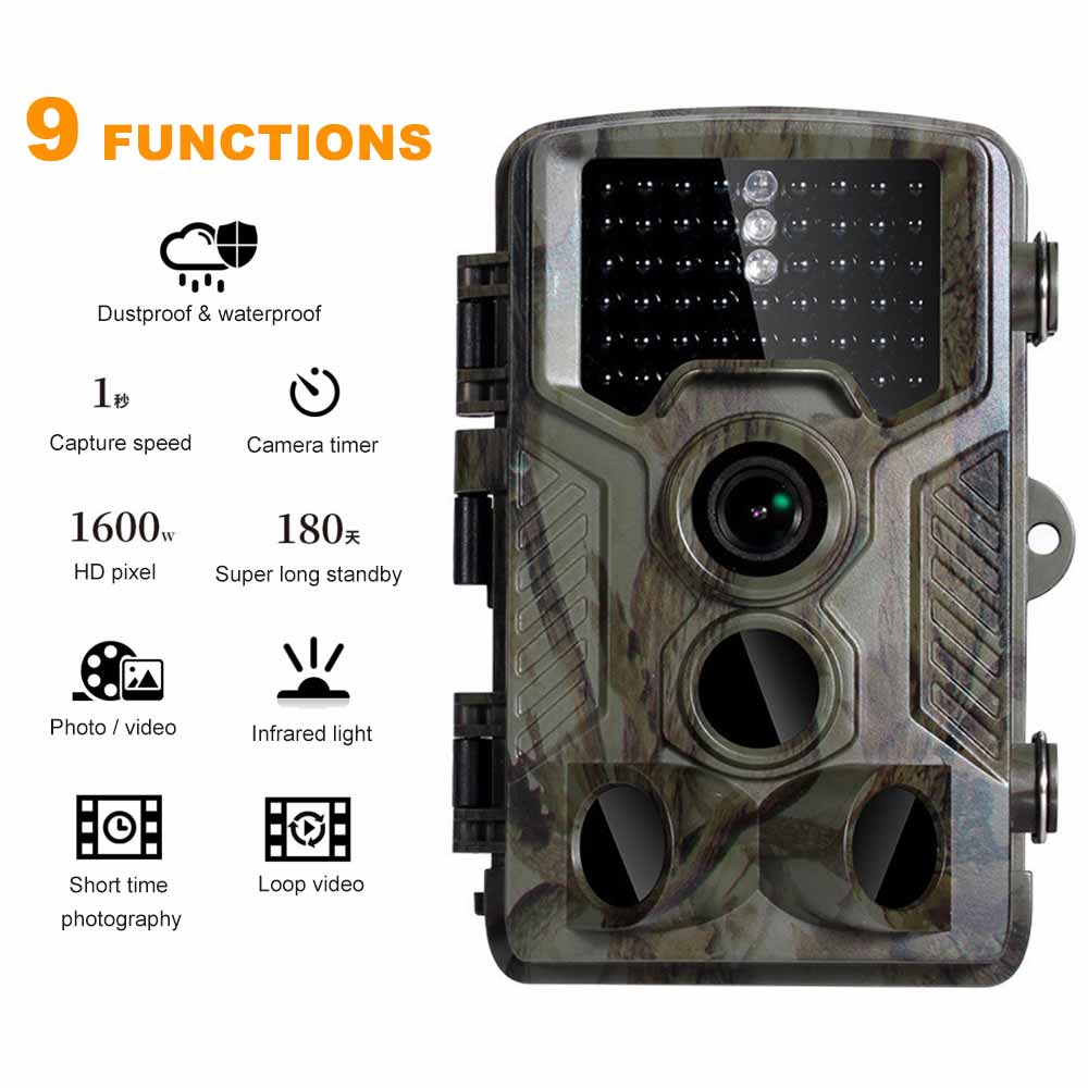 HC-800A Trail Camera 12MP 1080P Infrared Hunting Game Camera with Night Vision Waterproof Surveillance Tracking Camera недорого