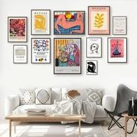 Peinture sur toile de personnages modernes Matisse  mode fille  feuille dart mural  affiches et imprimes nordiques  photos murales pour decoration de maison