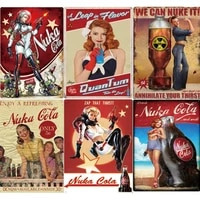 fast food restaurant decor metal wall art cola plaque metal vintage sexy lady tin sign poster retro man cave decor iron painting