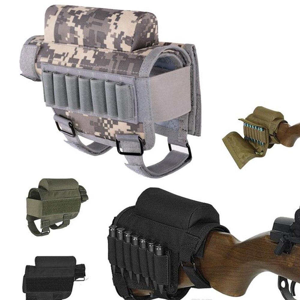 Culata de rifle táctico bolsa de descanso para nalgas bolsa de soporte para balas con funda de cartucho de transporte de munición bolsa de Nylon