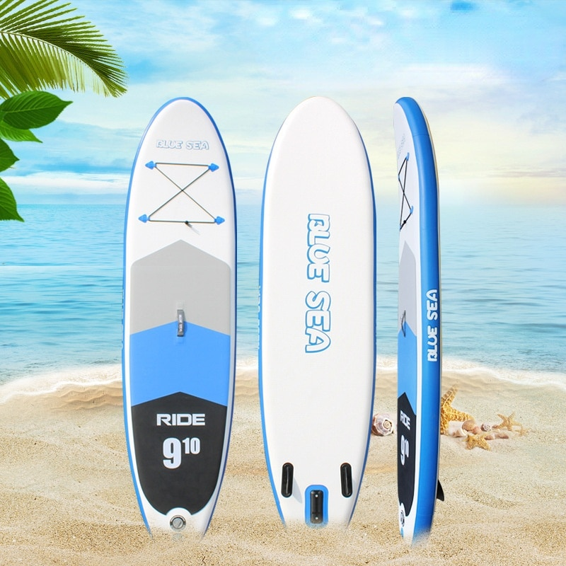 AddFun Two Size New SUP Surfboard Stand-up Inflatable Paddle Board Adult Drawing Clip Mesh Slurry Board Water Skiing Surfboard