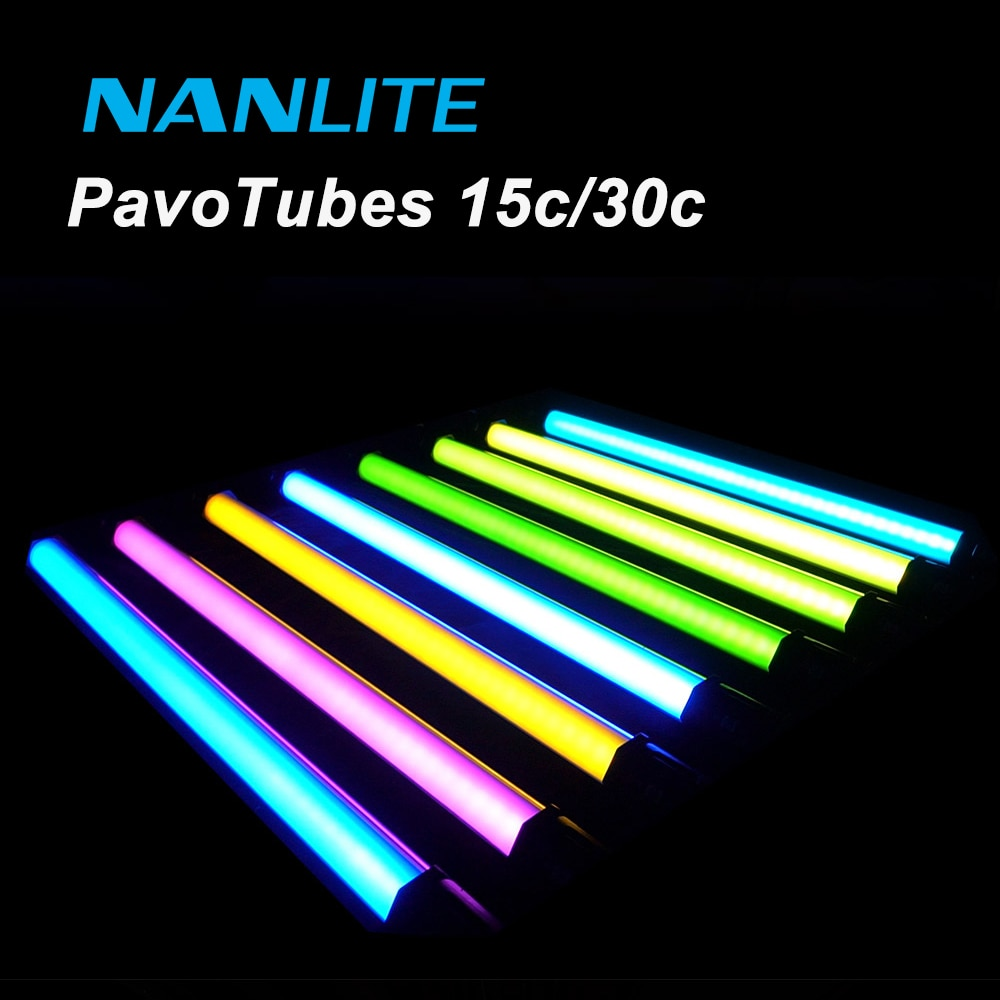 NanGuang Nanlite Pavotube 15C 30C RGB مصباح ليد أنبوب 2700K-6500K يده ضوء عصا فيديو فيلم استوديو التصوير الإضاءة
