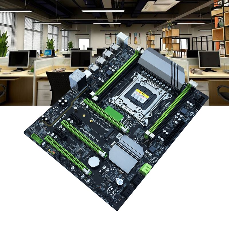 X79T Turbo Mainboard LGA2011 Desktop Computer Motherboard with E5 2650 CPU 2x8GB=16GB DDR3 RECC Memory