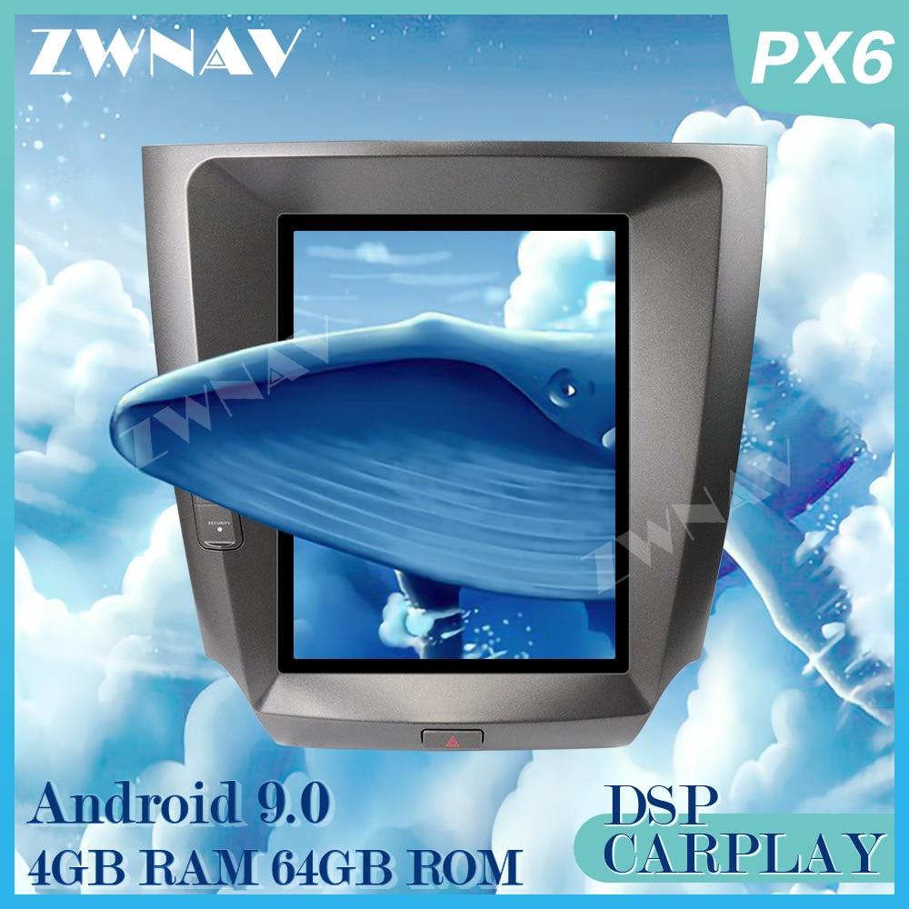 PX6 4G + 64G styl Tesla Android 9.0 samochodowy odtwarzacz multimedialny dla LEXUS IS200 IS250 IS300 2005-2011 radio GPS audio stereo duży ekran
