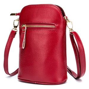 Mini Genuine Leather Crossbody Bag Luxury Handbags Women Bags Designer Mobile Phone Bag Women's Messenger Bag Small Shoulder Bag