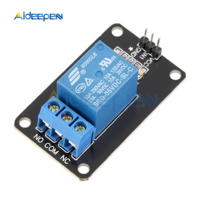 DC 5V 1 canal relé módulo controlador para Arduino PIC AVR DSP brazo MCU relé