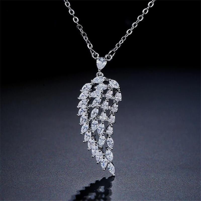 Colgante de Cruz choucong, colgante de diamante cz 925 de plata esterlina, collares colgantes para boda, collares para mujer, regalo de joyas de fiesta