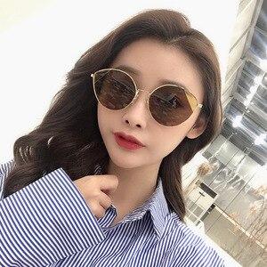 Cat Eye Sunglasses Women Brand Designer Twin-Beam Mirror Sun Glasses Vintage Female lentes de sol mujer Sunglasses Uv400