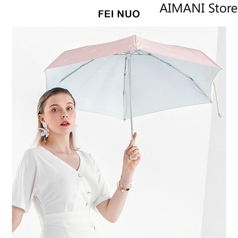 Five Folding Umbrella Sunshade Anti-ultraviolet Female Dual-use Sunny Lightweight Mini Anti-pump Sun Umbrella Betty Boop Rugrats