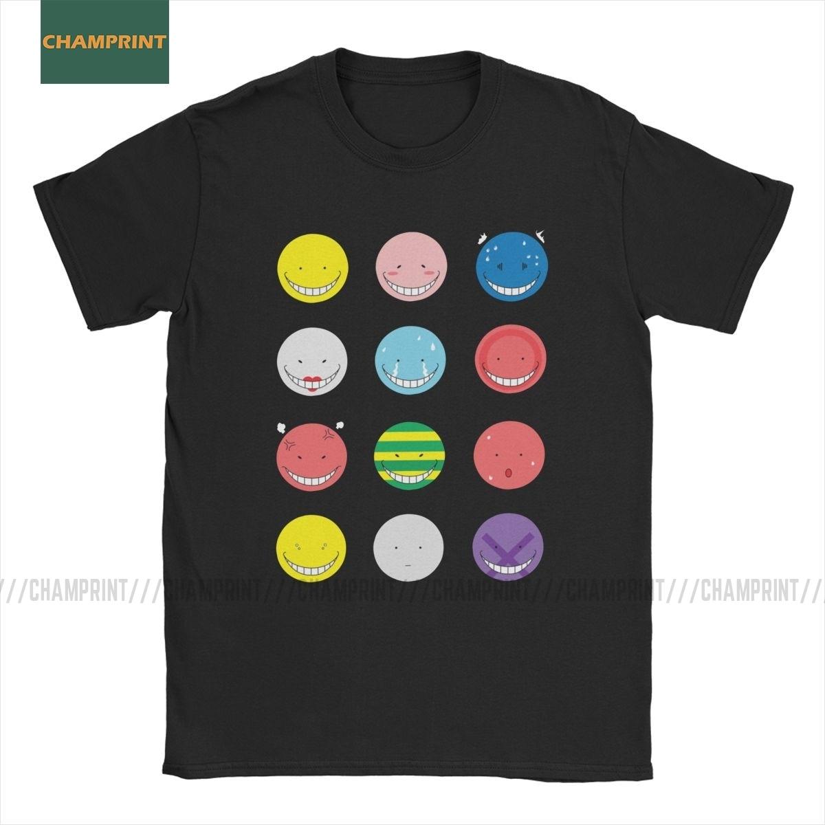 Koro Sensei Emotionen Ermordung Klassenzimmer T-Shirt Männer Baumwolle T Shirt Korosensei Kyoushitsu Shiota Klasse 3-E Kurzarm T