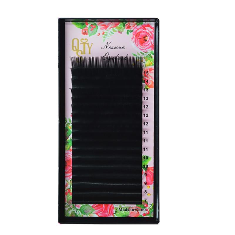 Искусственные ресницы, смешанный размер от 7 до 15 мм, 16 линий, высокое качество, норковые синтетические ресницы, одинарные натуральные ресницы, искусственные ресницы, ресницы для макияжа