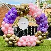 wedding birthday party decor maca pink maca purple gold latex balloon garland arch kit event baby shower backgound decor