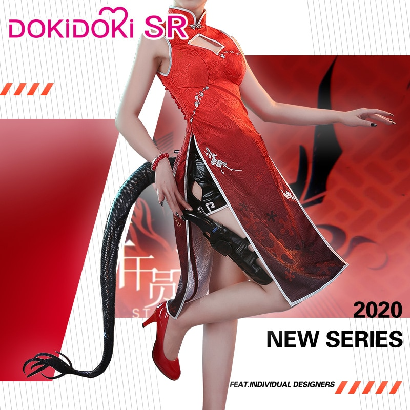 Dokidoki-sr jogo arknights chen ano novo chinês ver traje feminino vestido arknights cosplay jogo chen cosplay feminino dia das bruxas