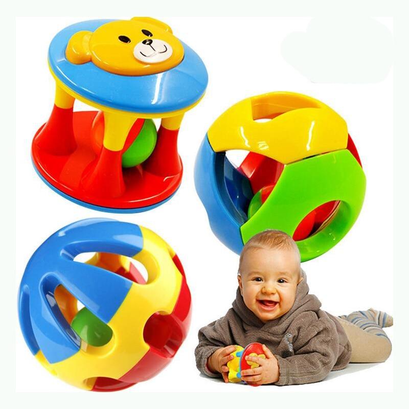 2 шт./компл. Новый прекрасный погремушки Пластик Игрушки для маленьких детей дрожание рук Белл кольцо Игрушечные лошадки детские развивающи...