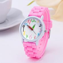 2019 Fashion Children Kids Arabic Numerals Pencil Analog Display Quartz Wrist Watch Kids Children re