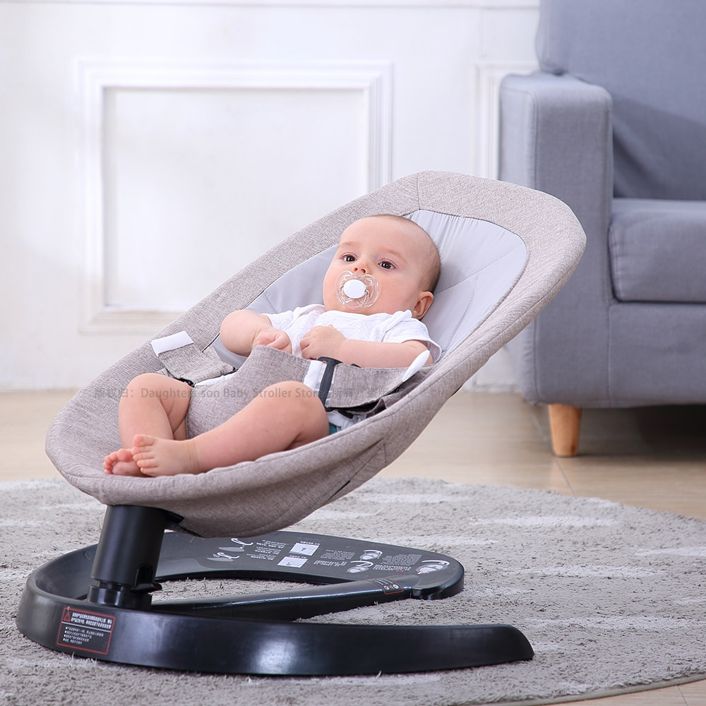 0-7 Baby Safety Swing Bouncer Rocking Chair For Newborn Baby Sleeping Basket Automatic Cradle With Seat Cushion Rocker Chair