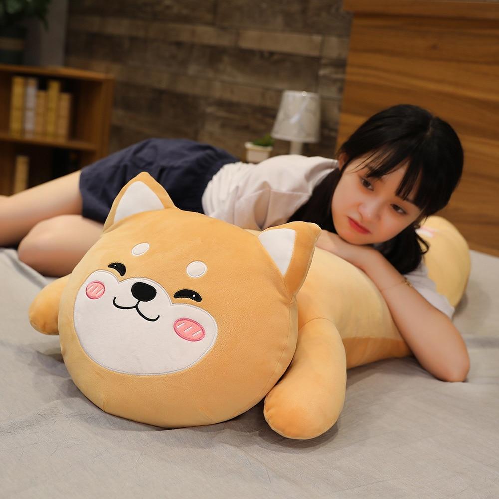 120cm Big Soft Animal Cartoon Pillow Cute Shiba Inu Elephant Pig Koala Plush Toys for Children Girls Bed Cushion Birthyday Gift