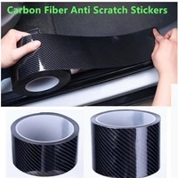 5d carbon fiber vinyl car door sill sticker window film anti scratch stickers for honda accord spirior civic city fit crv