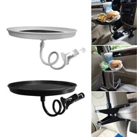 car seat bracket clip food snack beverage cup tray 360 degree rotation with arm flexible fixing plate car interior supplies