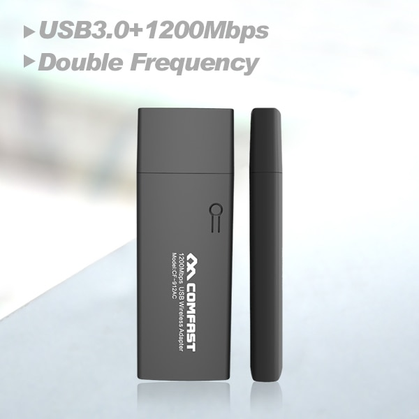 Hot sale COMFAST CF-912AC 2.4G/5.8GHz Dual-Band 802.11 ac 1200Mbps dual band USB 3.0 WI-FI WIFI WIRELESS ADAPTER Network Cards