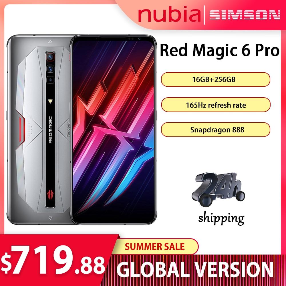 Перейти на Алиэкспресс и купить Глобальная версия Nubia красный Магия 6 Pro игровой смартфон 6,8 ''amoled Snapdragon 888 Octa Core 30 Вт Быстрая зарядка рамка RedMagic 6 Pro