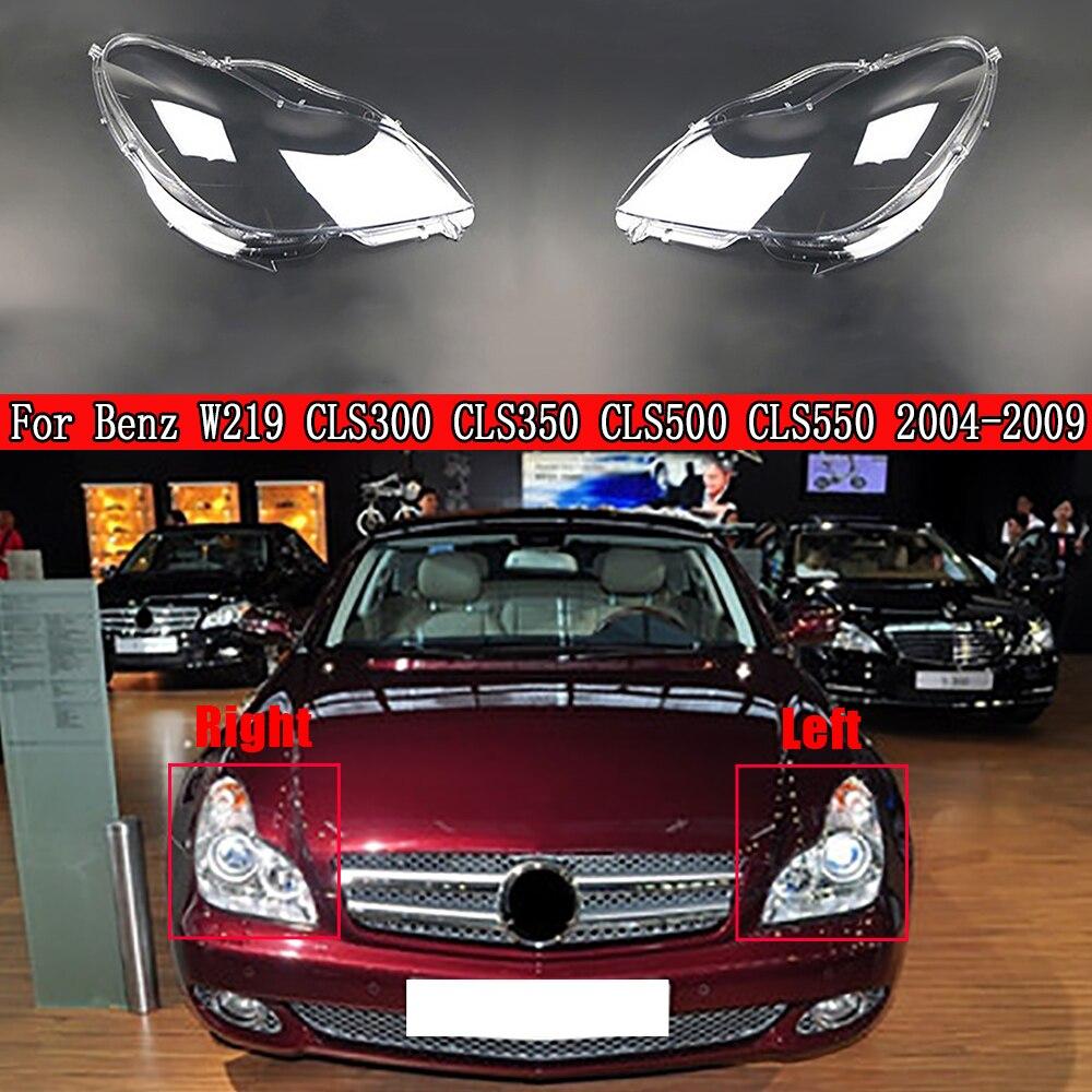 سيارة الجبهة المصابيح الأمامية شفافة أباجورة قذيفة عدسة المصباح الأمامي لمرسيدس بنز W219 CLS300 CLS350 CLS500 CLS550 2004 ~ 2009